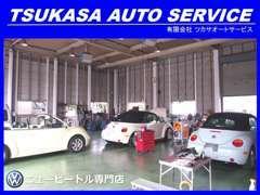 認証工場を完備してます。車の購入後、車検や修理をどこに預けていいか分からない、というお客様、ぜひご安心してお任せ下さい!