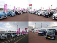 70台の大型展示場!安心の全車保証付き(^O^)/新車の試乗車もご用意しておりますので比較も出来ますよ♪