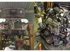 古い車の整備もお任せ下さい。パーツ持込整備も承っております。