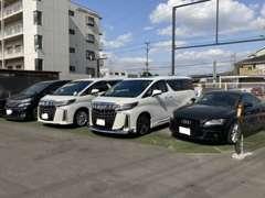 ミニバンから外車などの普通自動車の展示場になります!もちろんお客様の注文販売も承ります!