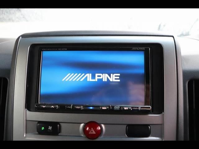 アルパインHDDナビ搭載でロングドライブも快適!