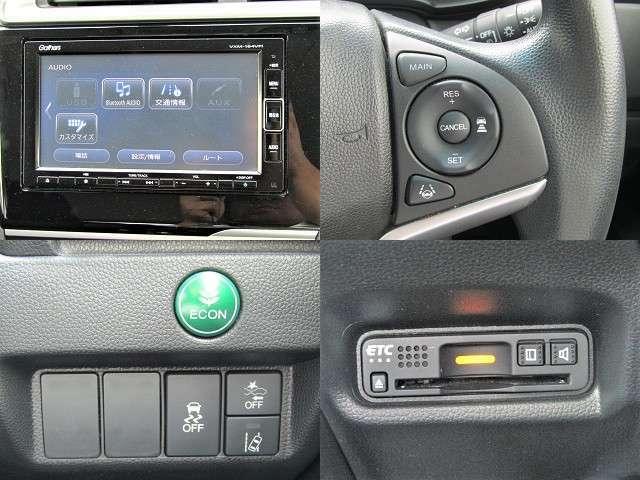 H30 フィット GLホンダセンシング ホンダセンシング/衝突軽減ブレーキ/レーダークルーズ/車線逸脱警報/ETC/純正フルセグナビ/バックカメラ/インテリキー/DVD再生/ブルートゥース/LED/フォグ/