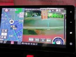 ☆Bプラン☆ 優れもので割安お買い得です☆ナビ連動前後録画対応ドライブレコーダー付き、前方だけではなく、後方も録画できるドライブレコーダーと連動ナビ画面で録画映像を確認できます。