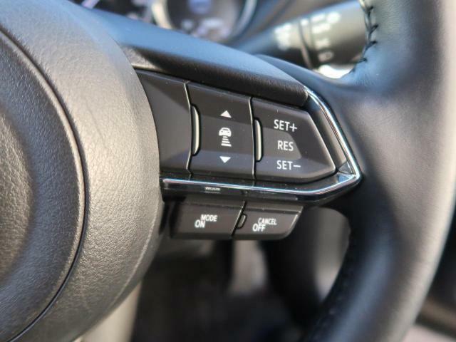 レーダークルーズコントロールが装備されております。高速道路等で60km~100kmでアクセルを踏まずに一定速度で走ることが可能です。あると便利ですね♪