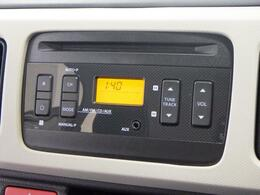 操作ラクラクな AM/FMラジオ付CDプレーヤーを装備しています。