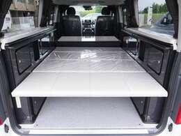 常設ベッド位置が変更できます!ベッドを下にセットすると183×123になります!