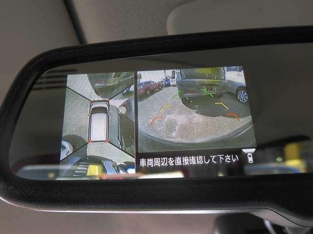 アラウンドビューモニターにて発進前に安全確認をすることができます!