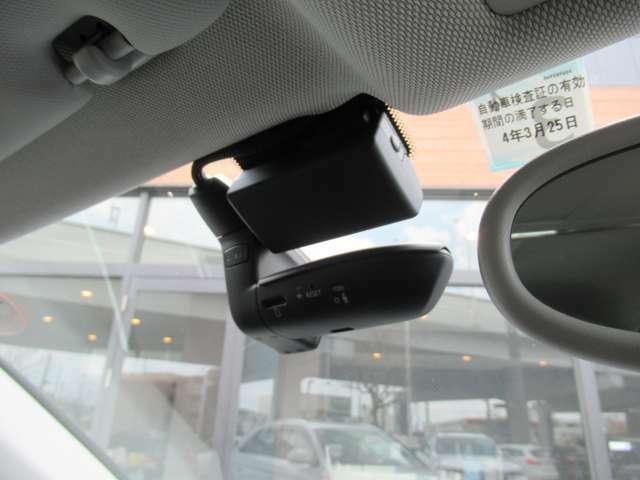 前後ドライブレコーダー付きでもしもの時に役に立ちます!