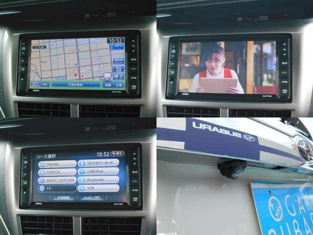 クラリオン製ナビ付き!!充実のナビ機能はもちろん高画質な『フルセグTV』や『ブルートゥース』等装備!!駐車時便利な『バックカメラ』も装備しています!!!