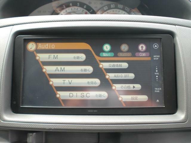 トヨタ純正ディーラーオプション(NSDD-W61)SDナビ/ワンセグTV/CD&DVD&SD再生/ブルートゥース接続可能