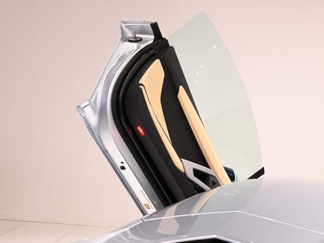 Aventador といえば、このシザードアですよね。