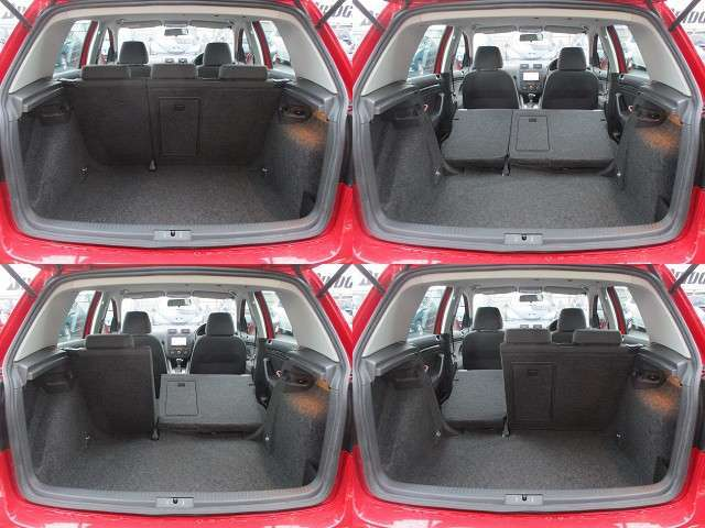 ラゲッジスペースは後部座席を倒すと更に広々とした収納スペースが確保出来ます♪ハッチも大きく荷物の積み込みもラクラクです♪好みの用途に応じてシートアレンジをして下さい♪