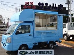日産 NT100クリッパー 移動販売車 着脱式4ナンバー 2層シンク ソーラーパネル 収納棚 作業テーブル