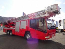 日野自動車 日野  モリタ製 梯子付消防自動車 モリタ製 40m級 リフター付 スーパージャイロラダー MH