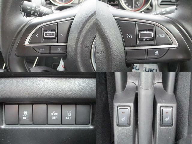 豊富な装備も魅力的!各機能の切り替えボタンは運転席前方に配置。
