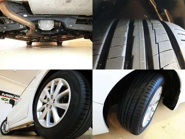 タイヤ溝は7分程、ヨコハマタイヤ。