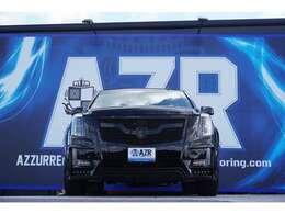 ZERODESINGエアロ Ver.1が取り付けられており、本来メッキパーツ部分をブラックに塗装し、統一感を出しております!