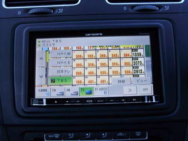 ワンセグチューナー搭載!車内で地上デジタル放送が見れます。受信状況が安定しているので、電波の届くところでは映りのムラが少ないです。天気予報や番組表もチェックすることができるので便利です。