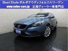 ボルボ V40 T4SEセーフティpkg 2014モデル/茶革/純ナビ/Bカメラ/1オナ/保