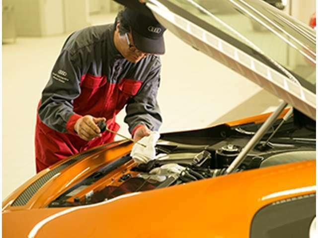 Bプラン画像:納車前点検100項目を実施。100項目もの厳しい点検項目を全てクリアした車両だけがAudi認定中古車として認められます。これにより、Audi車がもつ高い性能を最大限発揮することが出来ます。
