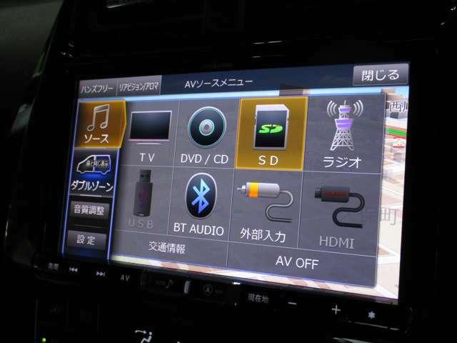 TV/Bluetoothオーディオ等多彩なメディアでロングドライブも退屈しません!