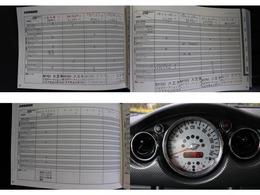 ワンオーナーMINI正規ディーラー整備記録簿H19より毎年R2までかかさず整備を行ってきています