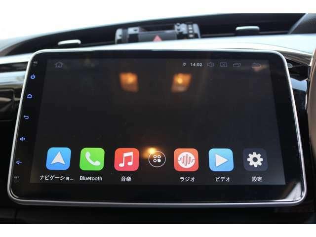☆アプリ取得でお持ちのスマホと連動可能!Bluetoothも接続可能でUSB接続でyoutubeなどスマホの動画を10インチの大画面で視聴可能です!