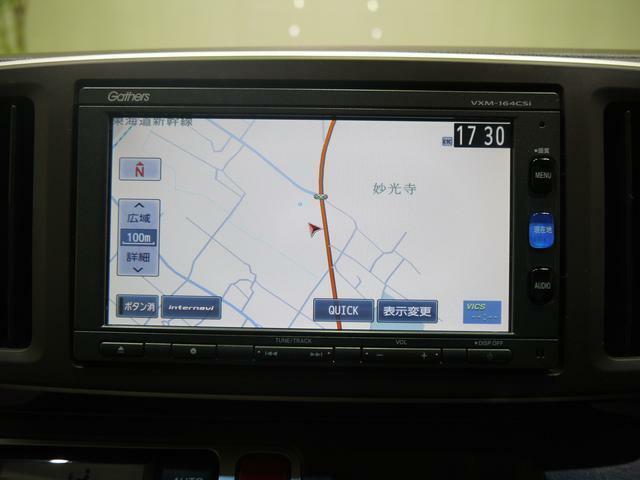 【カーナビゲーション】GPSで現在位置を捉えていますので全国どこでもお出かけが出来ますよ。高性能なオーディオも兼ね備えておりますので快適です!