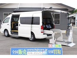 トヨタ ハイエースコミューター ウェルキャブ Dタイプ 車いす4台固定 9人乗り ナビ Bカメラ