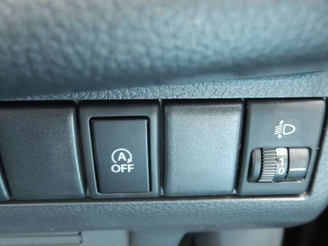 アイドリングストップの切り替えスイッチです。信号待ちでエンジンが止まるのが苦手な方は、このスイッチでOFFに出来ますよ☆