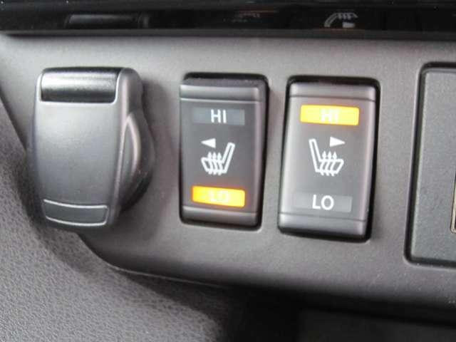 前席シートヒーター付いていますので、寒いとき体を温めてくれます。