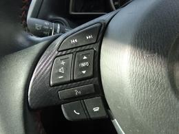ハンドルのボタンでオーディオが簡単に操作が出来ます