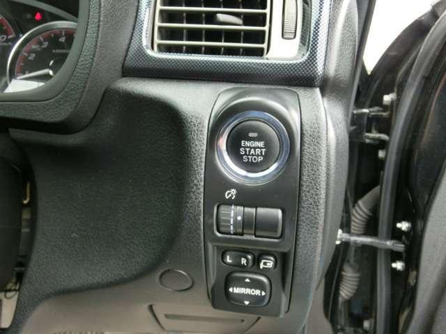 プッシュスタート式キーレス車両です。各部操作ボタンもございます!
