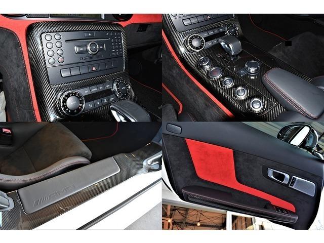 インテリアトリムには、AMGインテリアカーボンファイバーパッケージが採用。エクステリア/インテリア共にカーボンがふんだんに採用される事で、より上品且つ高級感溢れる室内空間を生み出します。