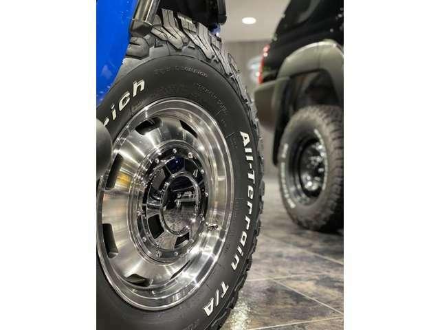 足元は16AW「ガルシア シスコ」のシルバーをチョイス!タイヤはBFグッドリッチのATタイヤを装着です!