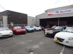 伊丹野間店はロードスターをメインにコンパクト系スポーツカーやオープンカーをラインアップ!