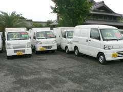 冷凍車等、特殊車両も数多く取り揃えておりますので、ご希望のお車を選んで頂けます。