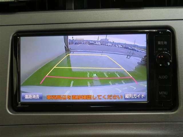 バックモニターで後方を確認しながら、安全に車庫入れできます!