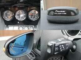 PIVOT3連メーター pioneerスピーカー ウインカーミラー クルーズコントロール