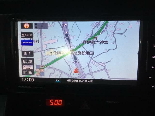 フルセグSDナビ!安心のバックカメラ付き!駐車をサポートいたします!