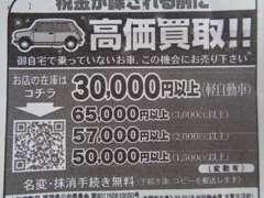 ☆不要になったあなたのお車高く買取させて頂きます。