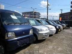 お仕事に大活躍の軽1BOXや、チョイノリにオススメの格安軽ワゴンも大量に展示中!!