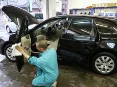 車検、軽整備・板金・メンテナンスなどアフターサービスも安心。