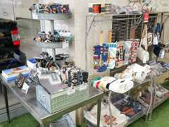 PENDLETONとflexdreamのコラボ商品や様々なアウトドア用品も展示