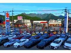 展示場も地域最大規模の広さ。スズキ車以外も多数展示中!