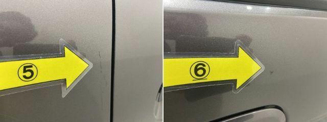 5、左Rフェンダー タッチペン6、左Fドア タッチペン跡※掲載写真以外にも、年式や走行距離に応じた微細な傷がある場合がございます。予めご了承ください。