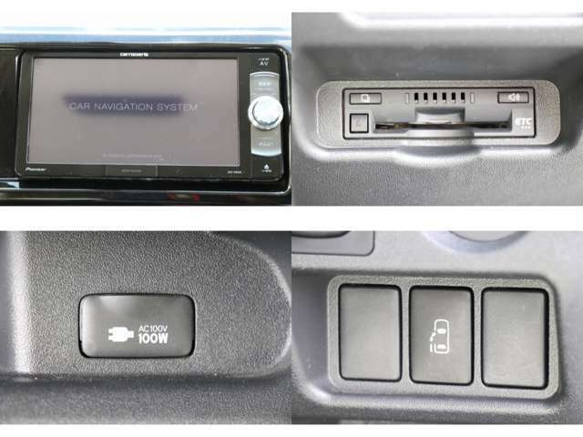 カロッツェリアナビ フルセグTV DVD・CD・SD再生 Bluetooth接続 ETC AC100V電源 オートスライドドア 純正オート防眩機能付きミラーモニター バックカメラ ドライブレコーダー