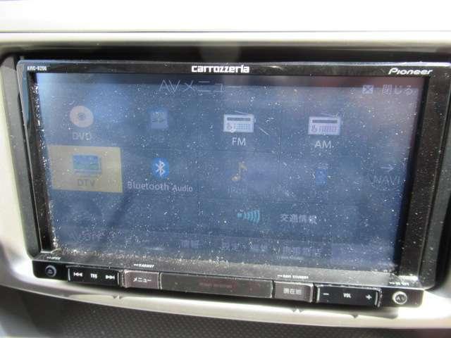 カロッツエリア製SDナビ 古セグ CD録音 DVD再生可能 Bluetooth内臓 ハンズフリーも可脳。AVIC-RZ06