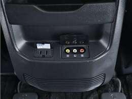 外部入力端子に電源コンセントも装着されているので外部機器の映像を視聴可能です!