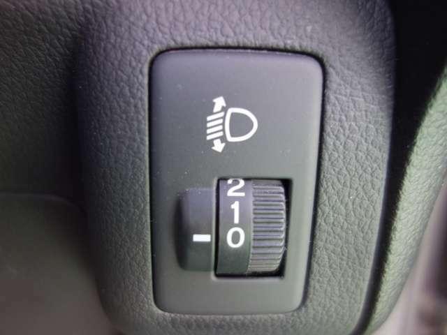 マニュアルレベリング機能付きヘッドライトです!